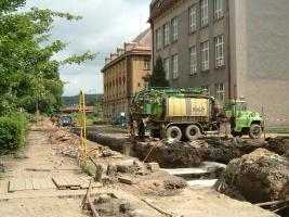 Před deseti lety - rekonstrukce Legionářské ulice ve Dvoře Králové nad Labem