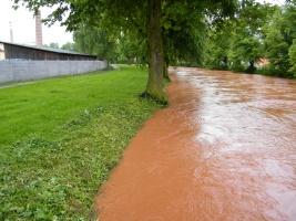 Povodeň ve Dvoře Králové nad Labem.