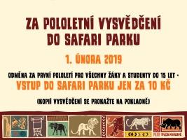 Za pololetní vysvědčení do safari parku