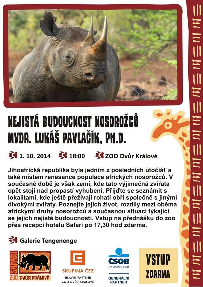 Nejistá budoucnost nosorožců – MVDr. Lukáš Pavlačík, Ph.D.