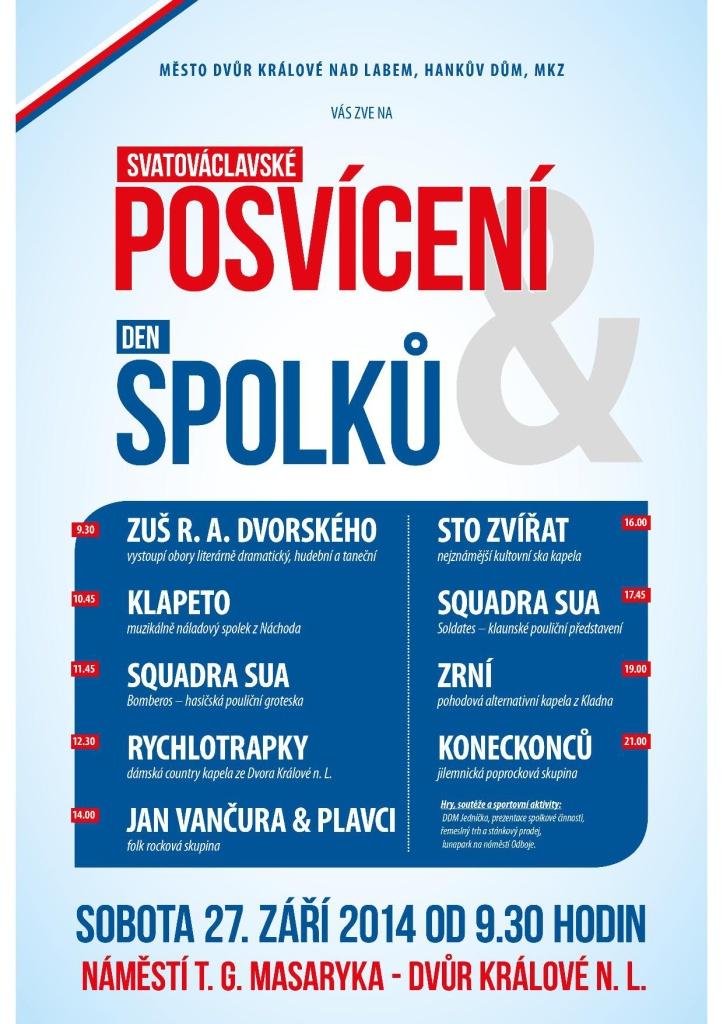 Plakát Královédvorské posvícení a Den spolků