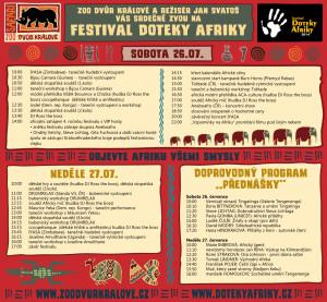 Program festivalu Doteky Afriky 2014
