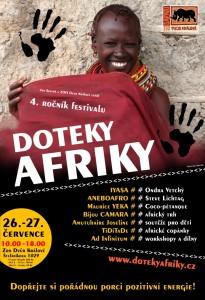 Plakát Doteky Afriky 2014