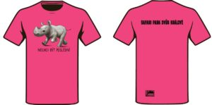 Tričko na podporu nosorožců
