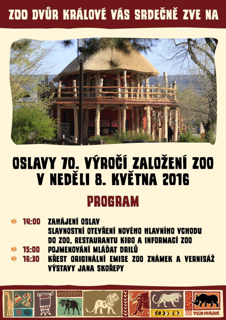Program výročí 70. let ZOO Dvůr Králové